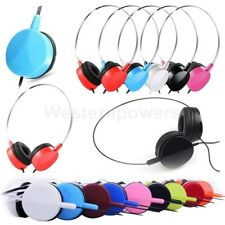 Adjustable On-Ear Earphone Headphone 3.5 mm For iPod iPhone MP3 MP4 PC Tablet