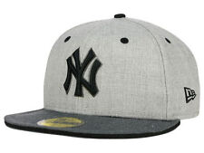 Official MLB NY New York Yankees New Era 59FIFTY Fitted Hat Heather Shadow