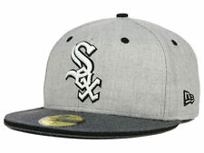 Official MLB Chicago White Sox New Era 59FIFTY Fitted Hat Heather Shadow