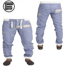 Mens Enzo Designer Cuffed Jogger Curved Leg jogger denim Fashion Jeans 30-42