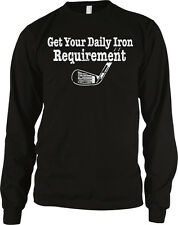 Get Your Daily Iron Requirement- Golf Green Putter Long Sleeve Thermal