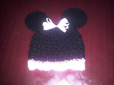 New Handmade Crocheted Minnie Mouse Inspired Hat Beanie All Sizes FREE SHIPPING!