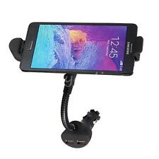 Car Cigarette Lighter Micro USB Charger Mount Holder Dual USB Port for Cellphone