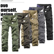 Cool New Casual Mens Military Combat Work Army Cargo Camo Trousers Pants