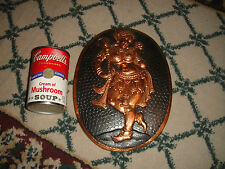 Interesting India Hammered Copper Wall Plaque Of India God-Woman-Marked BLI
