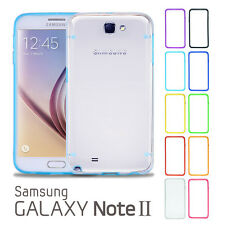 Hard TPU Transparent Rubber Gel Ultra Thin Clear Case for Samsung Galaxy Note 2