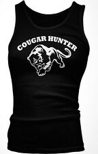 Cougar Hunter - Loves Older Woman  MILF Hot Moms Funny Boy Beater Tank Top