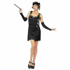 1920's Foxy Fever Flapper Fancy Dress Costume - 8,10,12,14,16,18 Plus Size