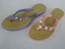 LADIES SAVANNAH  TOE POST MULES WITH DIAMANTE DETAIL (2 COLOURS) STYLE: F0791