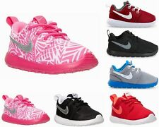 Chicas Chicos Nike Rosherun Ps TD Negro Rojo Rosa Roshe uno formadores Uk 3 - 13