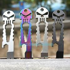 Skull Tactical EDC Multifunction Survival Tool Key Chain Bottle Opener Pry Bar