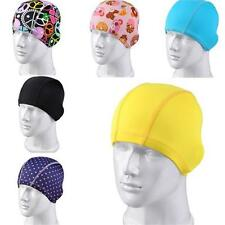 Fashion Pure Color Swimming Cap Hat Bathing Cap Unisex Common Hot New Stretch