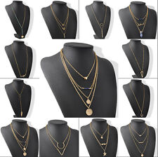 New Fashion Woman Infinity Gold Chain Choker Charms Long ChainPendant Necklace