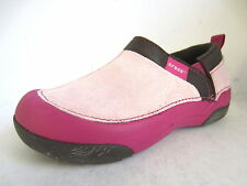 Girls Crocs Bubblegum/Berry Slip On Casual Shoes Style CUNNING CAMERON KIDS