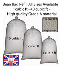 Bean Bag Booster Refill Polystyrene beanbag Beads Filling Top Up Bag Beans Balls