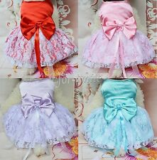 Puppy Pet Dog Lace Skirt Cat Princess Wedding Dress Small Puppy Clothes S-XXL