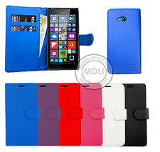 Leather Wallet Book Flip Case Cover Pouch For Microsoft / Nokia Lumia 640