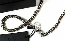 Armani Exchange A|X Men's Beaded Macrame Necklace
