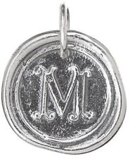 Waxing Poetic ROUND Insignia Charm Sterling Silver Letter J K L M N O P Q