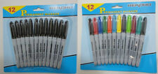 900 Fine Point Black or Colored Permanent Markers School Office Crafts BULK LOT