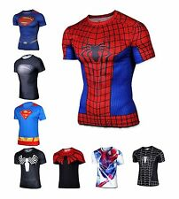 Sports Outdoor Cycling Jersey Cosplay Tops Superhero Avengers Costume T-Shirt