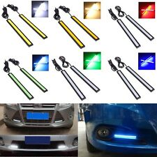 2x COB Auto Car LED Light 12V Driving Daytime Running DRL Fog Lamp Waterproof