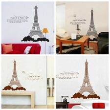 Paris Tower Removable Vinyl Art Decal Mural Wall Stickers Decor Sticker Home