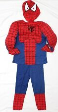 NEW Sz 3~8 MUSCLE COSTUME RED SPIDERMAN TOYS PARTY DRESS UP TOP MASK HEROES BOYs