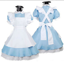 NEW Alice in Wonderland Costume Cosplay Women French Maid Fancy Dress Lolita
