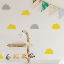 20pc Bright Star Kids Wall Stickers / Decals - Cloud Silhouette - Pick a Colour
