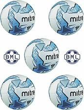 5 x MITRE IMPEL TRAINING FOOTBALLS - WHITE/BLUE - SIZES 3, 4 & 5