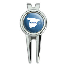 Spain Home Country Golf Divot Repair Tool and Ball Marker