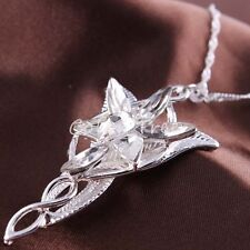 925 Sterling Silver / Alloy The Lord of Rings  Arwen Evenstar Pendant Necklace
