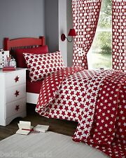 ETOILE STARS RED AND WHITE BOYS / GIRLS DUVET COVER BEDDING OR CURTAINS