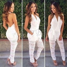 New Sexy Women Ladies Sleeveless Bodycon Jumpsuit Romper Trousers Clubwear Pants