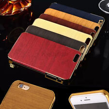 Luxury Wooden Pattern Matte Hard Back Cover Case For Apple iPhone 6 iPhone6 Plus