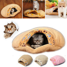 Soft Warm Cat/Dog Kitten Cave Pet Bed House Puppy Sleeping Mat Pad Igloo Nest