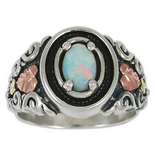 Black Hills Gold opal ring womens sterling silver whl/half size 4 5 6 7 8 9 10