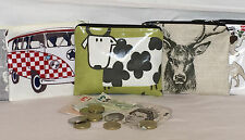 Hand Made 100% Cotton Oilcloth Purses, Pencil Cases, Smartphone holders, Glasses