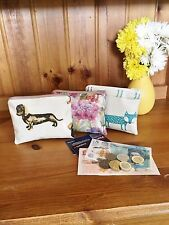 Hand Made Oilcoth Purses, Pencil Cases, Makeup bags Glasses case Animal themed