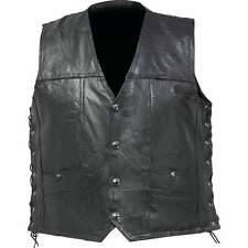 Leather Concealed Carry Motorcycle Vest, w/Lace Sides NEW!!