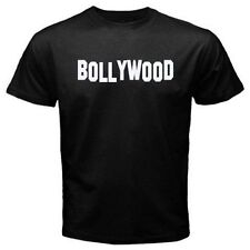BOLLYWOOD printed in hollywood sign font. Great indian india movie T-shirt E07