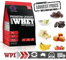 5KG WHEY PROTEIN ISOLATE POWDER  WPI  100% PURE - STRAWBERRY