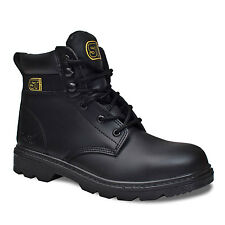 MENS PREMIUM SUPER SAFETY WORK BOOTS STEEL TOE CAP & MIDSOLE LEATHER SIZE 5-12