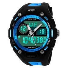 New Fashion Men's Waterproof Digital Alarm Date Sport Analog Watch LED Backlight