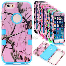 Pink Realtree Heavy Duty Matte Rubber Combo Hybrid Cases Cover For iPhone 6 6S