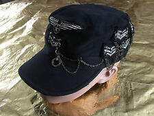 DREAM CONTROL USA UNIQUE BLINGY RARE UNISEX MILITARY INSPIRED HAT CAP NEW WOW!