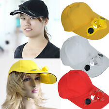 Cool Solar Power Cap Hat + Cooling Fan for Outdoor Sports Baseball Golf Cycling
