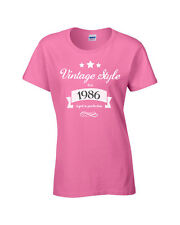 Vintage Ladies 30th 40th 50th Birthday T-shirt, Personalised Jubilee Gift