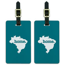 Brazil Home Country Luggage Suitcase ID Tags Set of 2